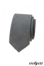 Szary krawat wąski 5 cm