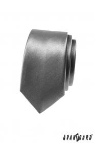 Wąski krawat AVANTGARD w kolorze jasnoszarym