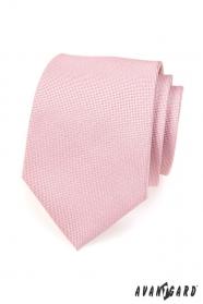 Jasnoróżowy krawat w pudrowym kolorze