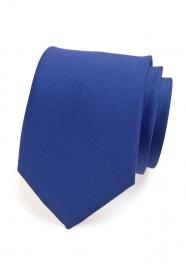 Niebieski matowy krawat