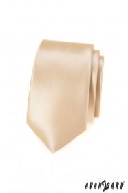 Krawat slim w kolorze Ivory