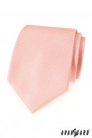 Krawat Avantgard w jasnym kolorze łososiowym