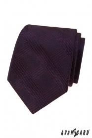 Krawat męski w bordowe paski